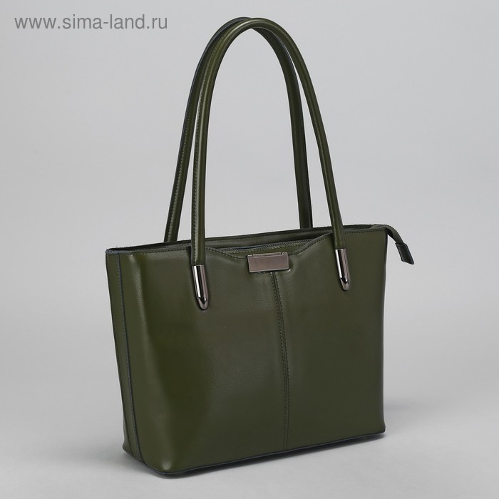 Сумка жен L-1190, 30*12*24, отдел с перег на молнии, 2 н/кармана, зеленый
