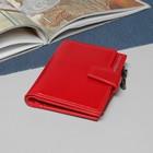 Кошелек жен 11-02-01, 11*3*13см, 6отд, д/кред, д/монет, на кнопке, красный