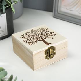 """Шкатулка дерево для росписи """"Дерево"""" 10х10х5 см"""
