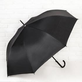 Зонт полуавтоматический 'Классика', трость, R=58см, цвет чёрный Ош