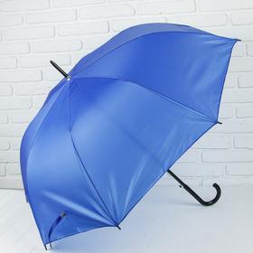 Зонт полуавтоматический 'Классика', трость, R=58см, цвет синий Ош