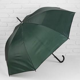 Зонт полуавтоматический 'Классика', трость, R=58см, цвет зелёный Ош