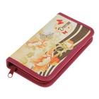 Пенал 1 секция «Цветы и бабочки», для девочки, 110 х 190, ткань, ПКТ 03-20