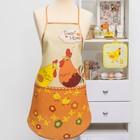 """Кухонный набор """"Петушки""""(фартук,прихватка)р. 4-17 ,печать , поролон, 100% пэ, 200 г/м2"""