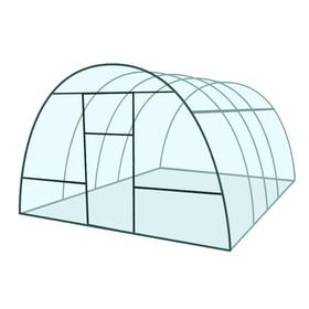 Каркас теплицы 'Базовая', 4 х 3 х 2.1 м, металл, профиль 20 х 20 мм, без поликарбоната, 2 форточки, 2 двери Ош