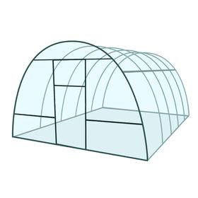 Каркас теплицы 'Базовая', 6 х 3 х 2.1 м, металл, профиль 20 х 20 мм, без поликарбоната, 2 форточки, 2 двери Ош