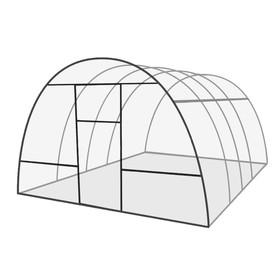 Каркас теплицы 'Базовая', 4 х 3 х 2.1 м, оцинкованная сталь, профиль 20 х 20 мм, без поликарбоната, 2 форточки, 2 двери Ош
