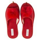 Тапочки женские Domino арт. DKL-15117, цвет красный , размер 36-37