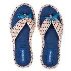 Тапочки женские Domino арт. D-EL72, цвет синий, размер 36-37