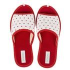 Тапочки женские Domino арт.DKL-15131, цвет красный, размер 36-37