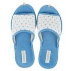Тапочки женские Domino арт.DKL-15131, цвет голубой, размер 36-37