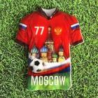 Магнит в форме футболки «Москва»