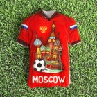 Магнит в форме футболки «Москва», Храм Василия Блаженного
