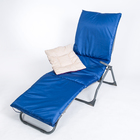 Подушка-матрас водоотталкивающ. 192х60х5 см, оксфорд 100% пэ, васильковый, синтетич. волокно   33036