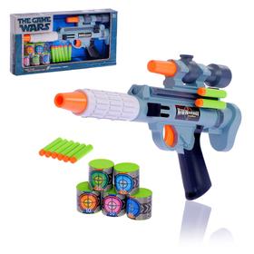 """Пистолет """"Космическая пушка"""", стреляет мягкими пулями: с мишенями"""