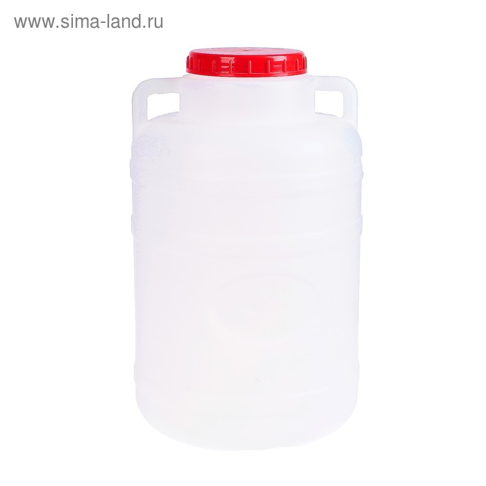 Фляга-бочка пищевая, 15 л, белая