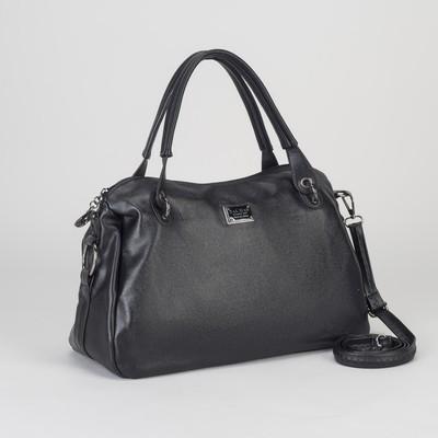 Сумка жен L-1800, 30*13*22, отд с перег на молн, н/карман, дл ремень, черный