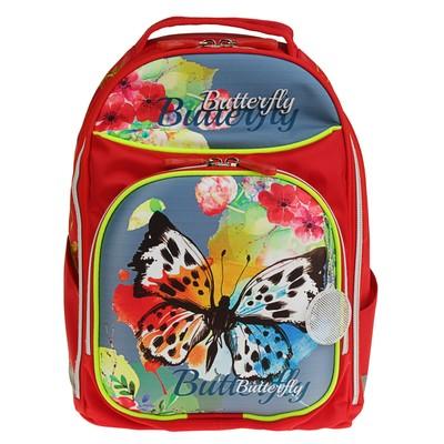 Рюкзак каркасный Luris 36*27*16 Джерри 8 для девочки «Бабочка»