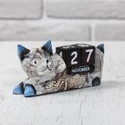 """Деревянный календарь """"Кошка"""" 13х4х6,5 см"""