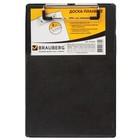 Доска-планшет А5 BRAUBERG NUMBER ONE, с верхн прижимом, 15,8*23см, картон/ПВХ, черная 232224   33234