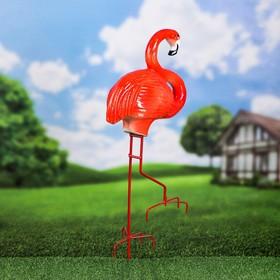 """Садовая фигура """"Фламинго"""" металлические ноги, 85 см"""