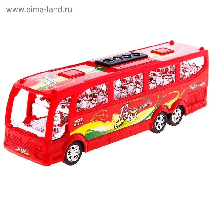 """Автобус инерционный """"Путешествие"""", цвета МИКС"""