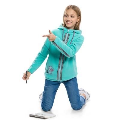 Куртка для девочки, рост 134 см, цвет изумрудный
