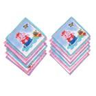 Набор детских носовых платков 45014-823 Melagrana (12шт) 20х20см печать полотн. 66г/м хл100%   32897