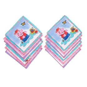 Набор детских носовых платков 45014-823 Melagrana (12шт) 20х20см печать полотн. 66г/м хл100%   32897 Ош