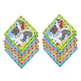 Набор детских носовых платков 45014-826 Melagrana (12шт) 20х20см печать полотн. 66г/м хл100%   32897 Ош