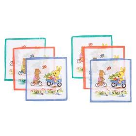 Набор детских носовых платков 45453К-13 Etteggy (6шт) 25х25см печать полотн. 66г/м, хл100% Ош