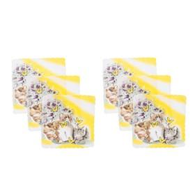 Набор детских носовых платков 45453КС-466 Etteggy (6шт) 25х25см печать полотн. 66г/м, хл100%   32897 Ош