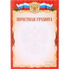 """Почётная грамота """"Универсальная"""" красная рамка, символика РФ"""