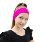 Лента (повязка) на голову бифлекс, цвет фуксия