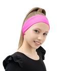Лента (повязка) на голову бифлекс, цвет розовый
