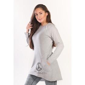 Туника женская PEACE, размер 50, цвет серый меланж  ФТ1307
