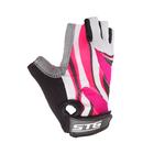 Перчатки велосипедные STG, размер L, цвет чёрно-розовый