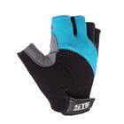 Перчатки велосипедные STG, размер L, цвет черно-голубые
