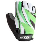 Перчатки велосипедные, размер L, цвет зеленый