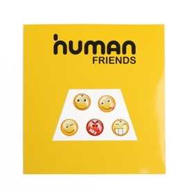 Наклейки Human Friends Emote, для мобильного устройства, в виде Смайлов, диаметр 10 мм Ош