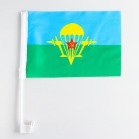 Флаг 30х20 см ВДВ со штоком (набор-12 шт.), полиэстер Ош