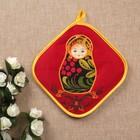 Прихватка «Матрёшка», хохлома, с вышивкой, сувенирная