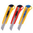 Нож канцелярский 18мм BRAUBERG +2 лезвия, автофиксатор, блистер, микс 230918