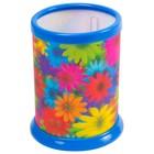 Стакан д/ручек BRAUBERG Цветы, 3D эффект 236443