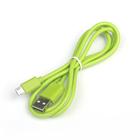 Провод для зарядки и передачи данных USB-microUSB, 1 м, резиновая оплётка, МИКС