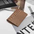 Обложка для паспорта Textura, 5 карманов для карт, цвет кайман бежевый