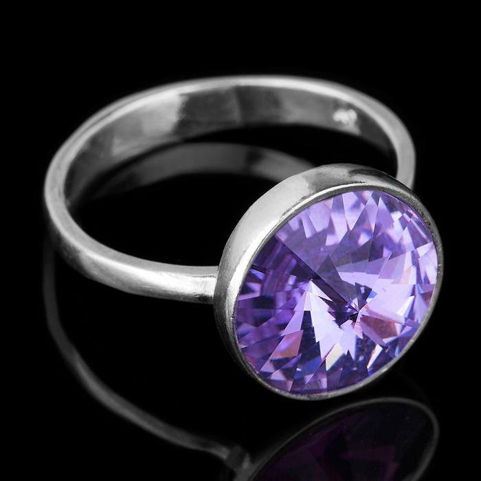 """Кольцо бижар """"Увлечение"""", размер 18, цвет сиреневый в серебре"""