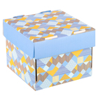 Складная коробка «Яркие краски», 15 х 15 х 12 см