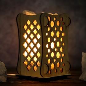 Соляной светильник 'Шарики', 9 х 14 см, деревянный декор Ош