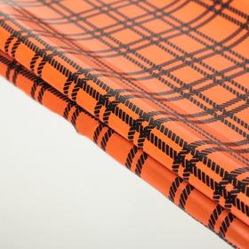 Пленка голографическая 'Клетка', оранжевый, 50 х 70 см Ош